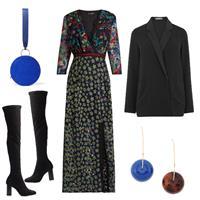 Boots, Dress, Blazer