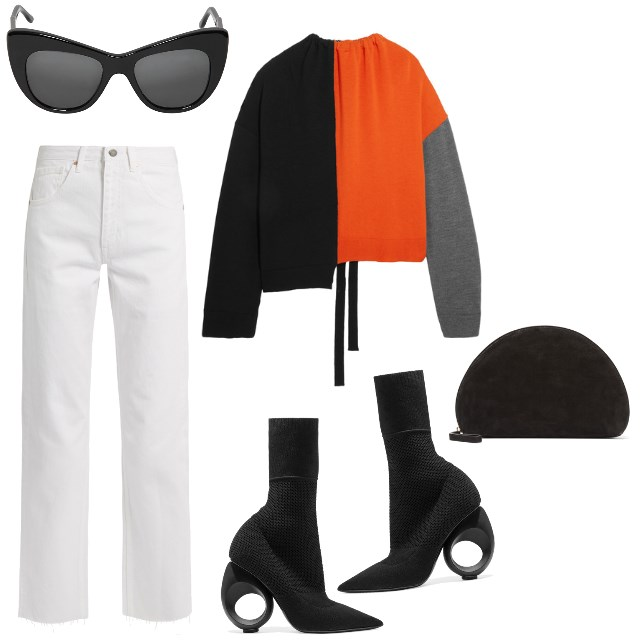 WHITE JEANS + POWER PIECES