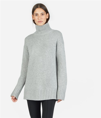 The Premium Heavy Cashmere Long Turtleneck