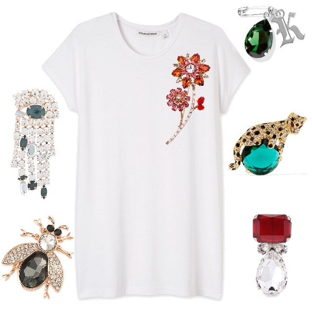 T-SHIRT CHALLENGE: BROOCHES
