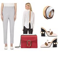 Bold office look!