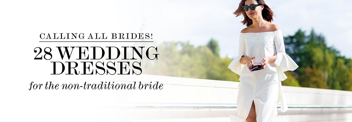 Calling all brides - We've found 28 wedding dress for the non-traditional brid
