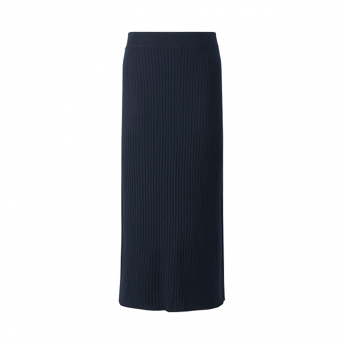 Merino Blend Ribbed Skirt
