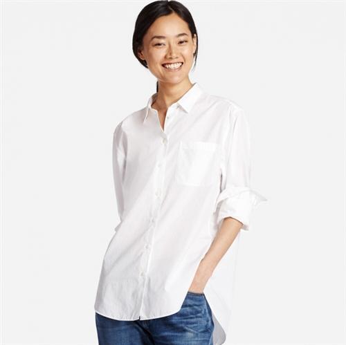 Extra Fine Cotton Oversized Long Sleeve Shirt