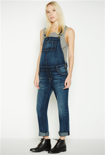 THE CURRENT/ELLIOTT X HATCH EASY DENIM OVERALL