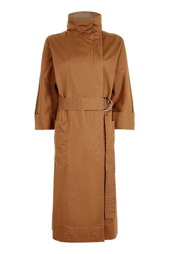 '80s Funnel Neck Trench Coat