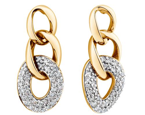 ¼ carat diamond earrings