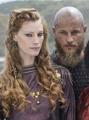 Alyssa Sutherland keeping things Queen. In character