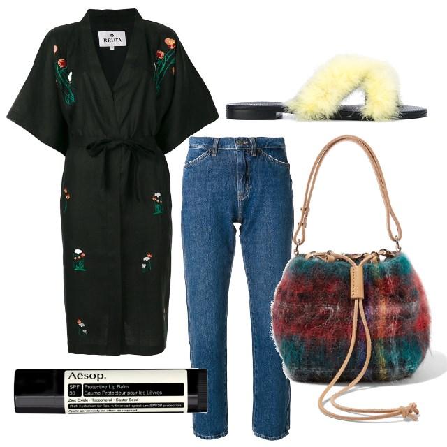 Kimono + Jeans