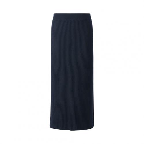 Merino Blend Ribbed Skirt