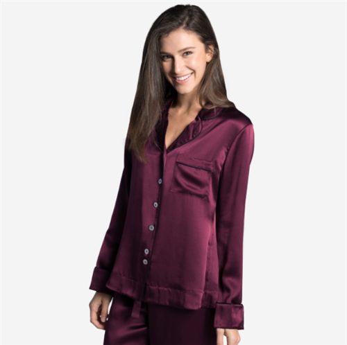 Silk Long Sleeve Pyjama Shirt