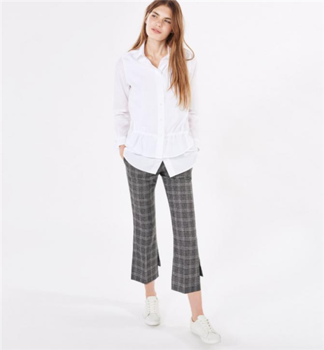Rugger Checker Kick Flare Pants