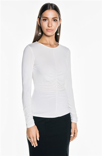 CREPE JERSEY LONG SLEEVE TOP
