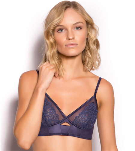 Lucile Luxe Long Line Bralette - Navy