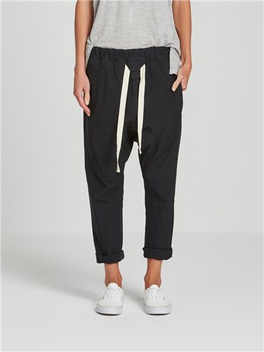 relaxed cotton pant -faded navy