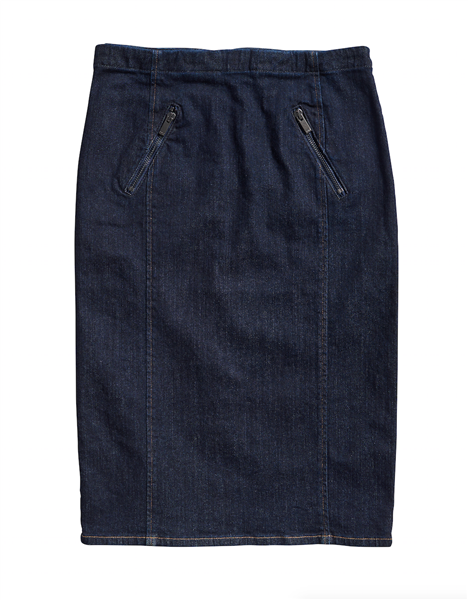 Polo Ralph Lauren Anya Pencil Skirt W/Zipper Detail
