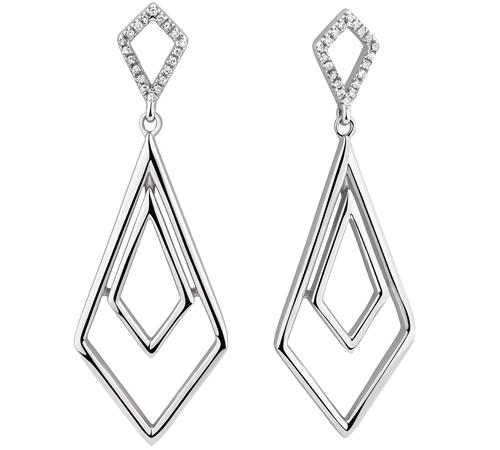 Diamond pendant or earrings