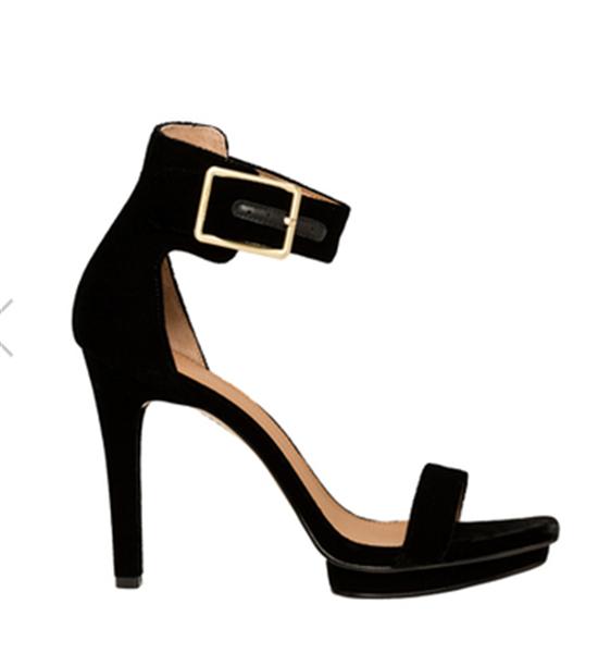 CALVIN KLEIN Vable Black Velvet Sandal